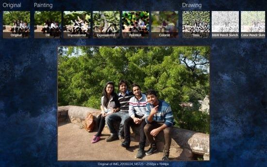 Free Windows 8 Photo Effect App
