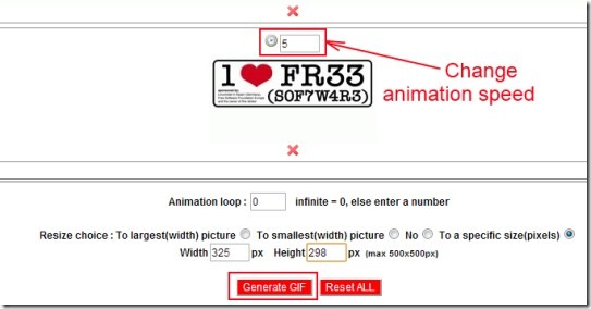 GifMake 02 creating an animated gif online