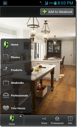 Houzz Home button
