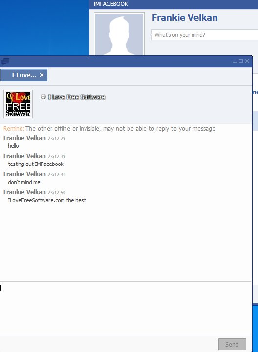 IMFacebook chatting with a user