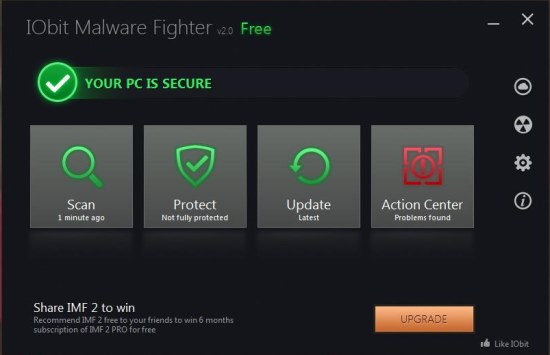 Iobit Malware Fighter 2 interface