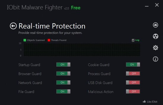 Iobit Malware Fighter 2 real time protection