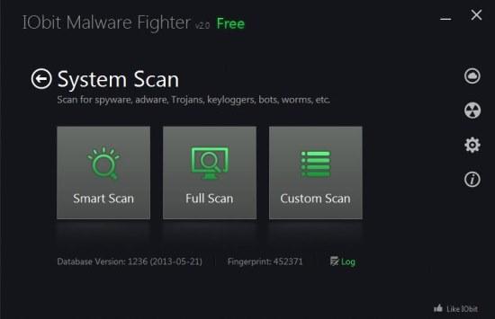 Iobit Malware Fighter 2 scan