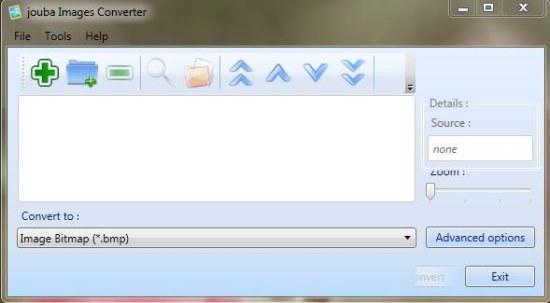 Jouba Images Converter interface