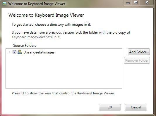Keyboard Image Viewer interface