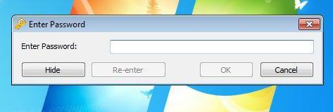 Kryptel adding password