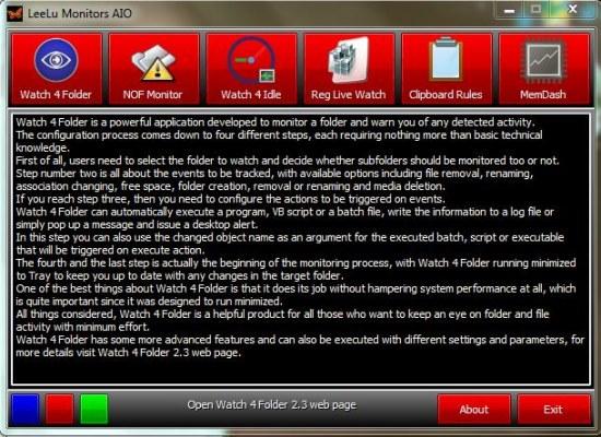 LeeLu Monitors AIO interface