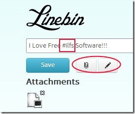 Linebin 02 write notes online