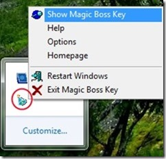 Magic Boss Key 03 hide programs