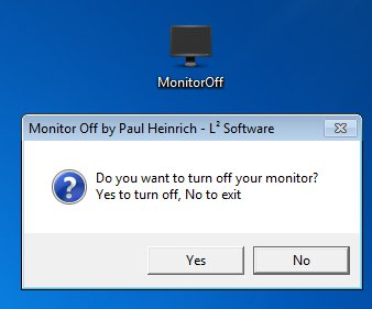 Monitor Off icon working