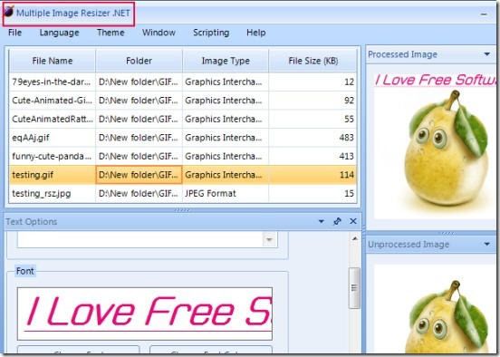 Multiple Image Resizer.NET 01 resize images in batch