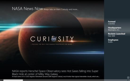 NASA News App For Windows 8