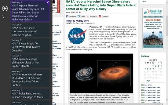 NASA News App Windows 8