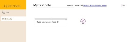 OneNote App For Windows 8