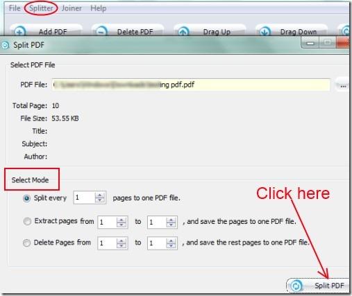PDF Splitter Joiner 02 split & merge pdf files for free