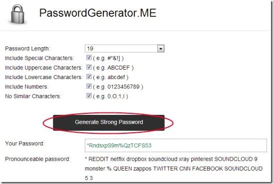PasswordGenerator.ME 01 create strong passwords