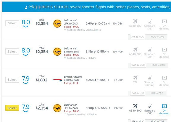 RouteHappy flights
