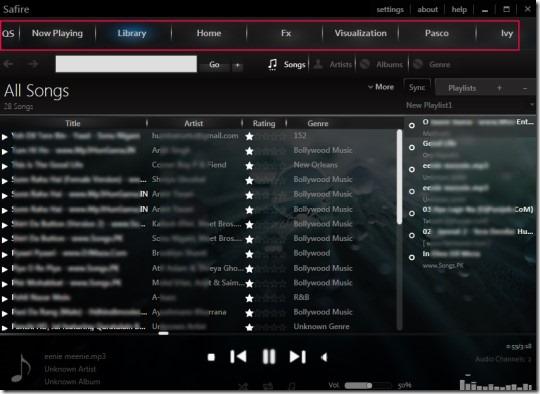 Safire 01 free music media player