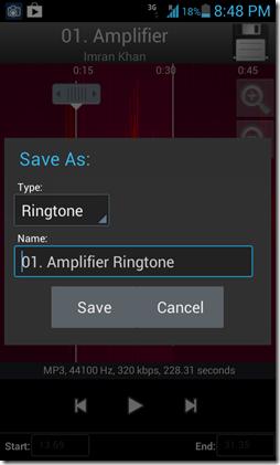 Save Ringtone