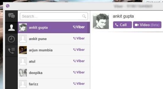 ScreenShot viber of windows