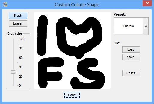 Shape Collage custom shape