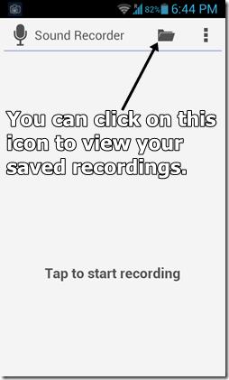 Sound Recorder main