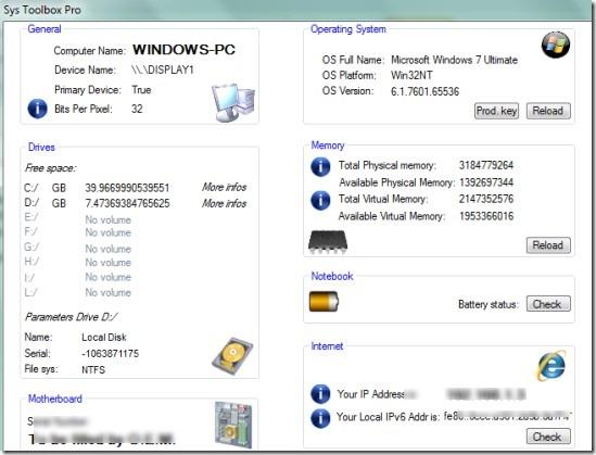 Sys Toolbox Pro 01 system information program