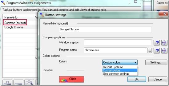 TaskBow 02 customize Windows taskbar