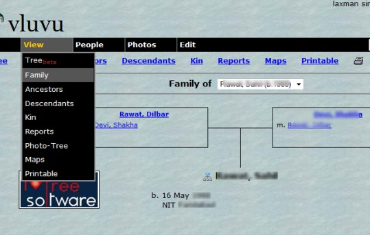 build own family history website with free online family