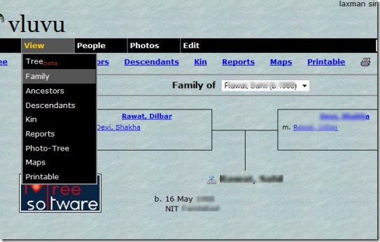 Tribalpages 01 online family tree maker