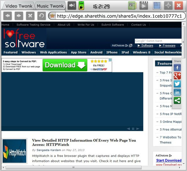 Twonk free media player default window