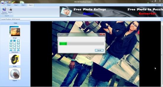 VISCOM Photo Slideshow Creator slideshow progress