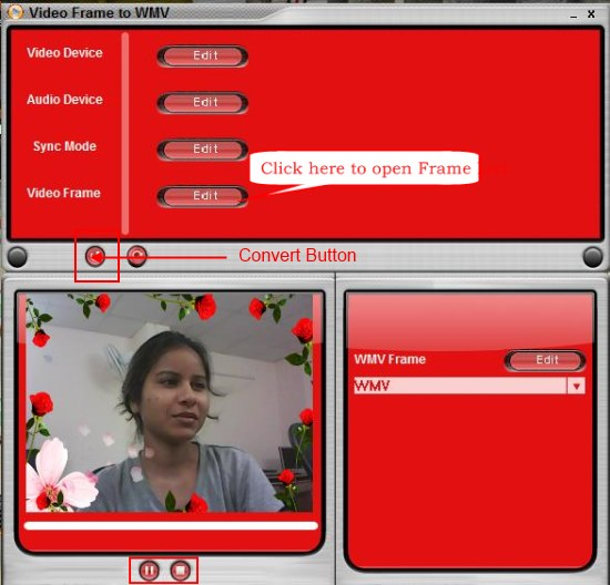 Video Frame To WMV adding frames