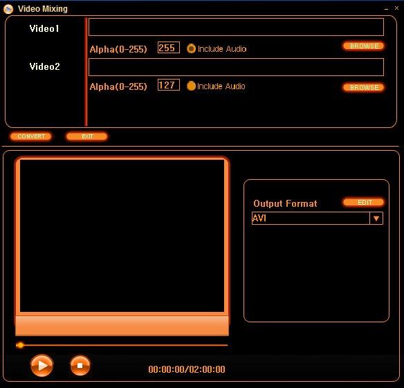 Video Mixing default window