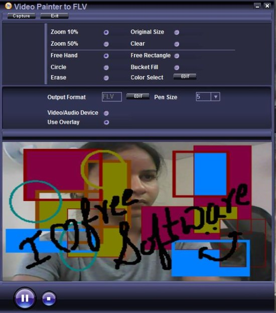 Video Painter To FLV video