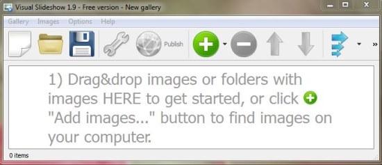 Visual SlideShow interface