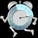 Walk me up! alarm clock icon