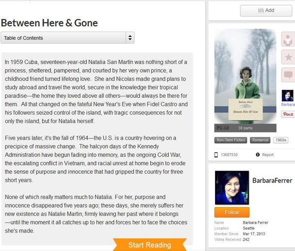 Wattpad default window
