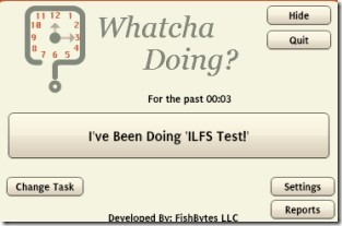 Whatcha Doing 01 time tracking application