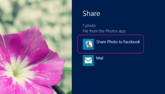 Windows 8 Share Photo To Facebook