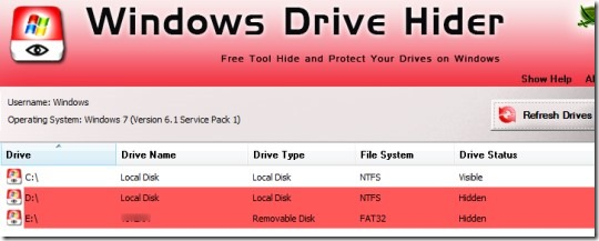 Windows Drive Hider 01 hide drives in Windows