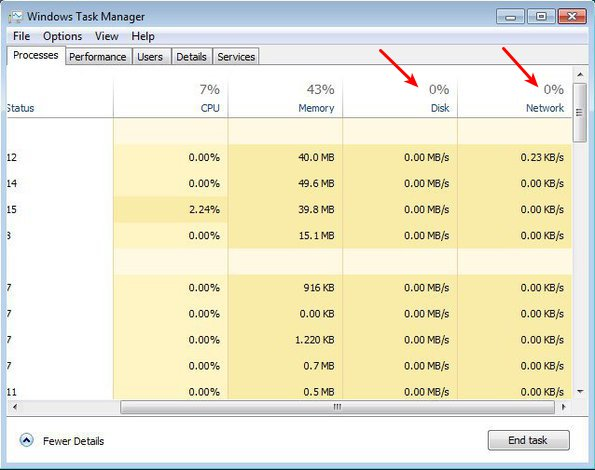 Windows Task Manager 8 activity monitor