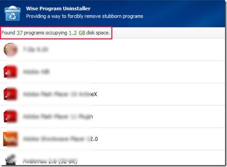 Wise Program Uninstaller 01 remove installed programs