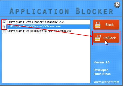 application blocker unblock applications