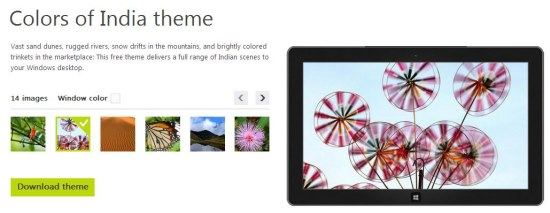 colors of indoa theme interface