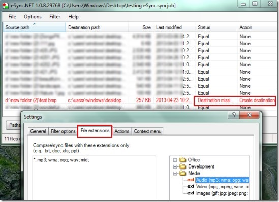 eSync.NET 01 syncing folders