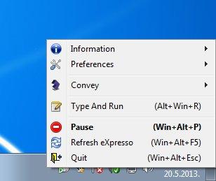 eXpresso default window