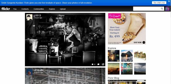 flickr interface