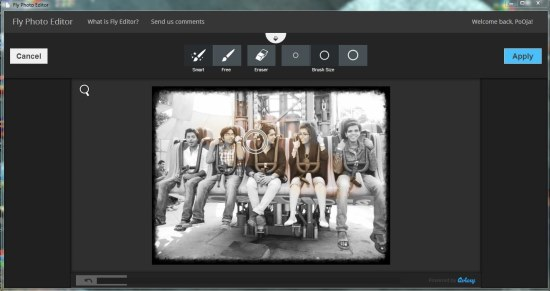 fly photo editor editing photo