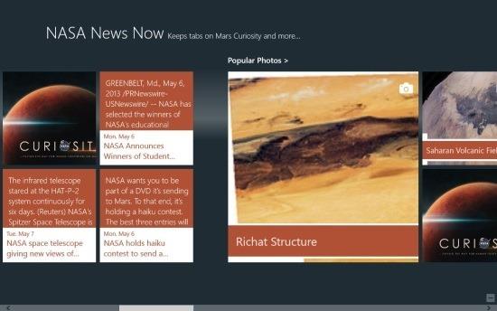 free NASA News App For Windows 8